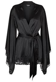 robe de chambre soie azalea robe de chambre courte kimono en satin de soie stretch et