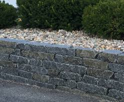 garden walls stone cobalt black garden wall tumbled earthworks natural stone