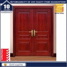 Wooden Main Door China Teak Wood Panel Solid Wooden Main Door Design Double Door