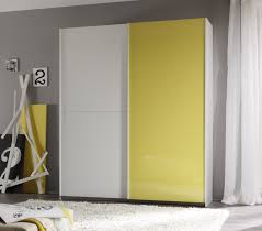 smart wardrobe w 2 sliding doors white yellow buy online at