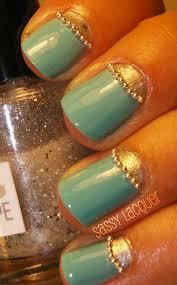 sassy lacquer boho spring glam nail art