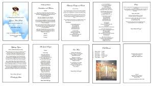 thanksgiving program sample say with words funeral program specialist