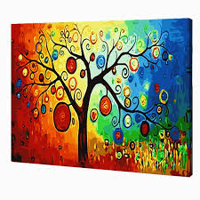 diy abstract tree painting by numbers kit bigbold shop