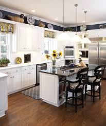 kitchen splendid cornered kitchen window treatment with beautiful