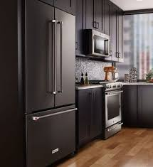 what color cabinets match black stainless steel appliances what s the best appliance finish for your kitchen home