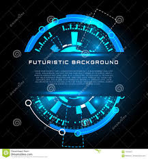 futuristic interface hud banner vector background stock vector