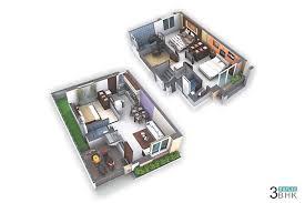 Duplex Home Design Plans 3d 3 Bhk House Plans Duplex