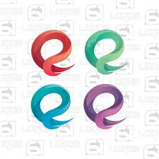 letter e logo 3d logo iconic logo abstract business vector