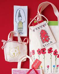 iron on bags with kids u0027 drawings martha stewart living