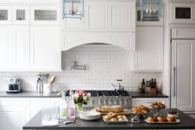 Backsplash Tile Designs For Kitchens White Kitchen Cabinets With Black Granite Countertops Images