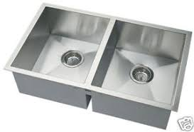 Deep Double Bowl Square Undermount Stainless Steel Kitchen - Square sinks kitchen