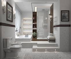 bathroom contemporary bathroom in white color decoration idea