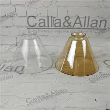 Diy Glass Pendant Light Clear Glass Shade D180mmx135mm Diy Lighting Lshade Cone