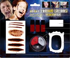 zombie halloween makeup kits zombie tattoos makeup kit with fake blood and sponge for halloween