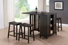 Bar Stool And Table Sets Baxton Studio Aurora 5 Piece Dark Brown Modern Pub Table Set With