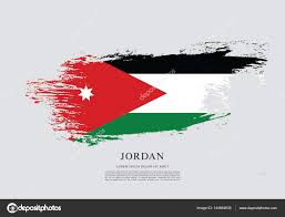 Flag Jordan Jordan Flag Layout U2014 Stock Vector Igor Vkv 144664639