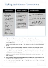 how to refuse an invitation 30 free esl invitation worksheets