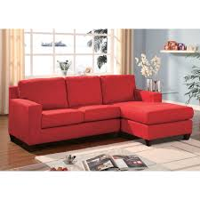 sofa with reversible chaise lounge vogue reversible chaise sectional sofa multiple colors by acme