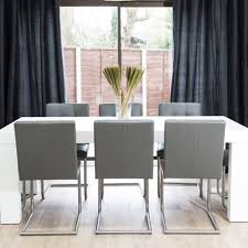 Contemporary White Dining Room Sets - stunning white dining room set come with white gloss dining table