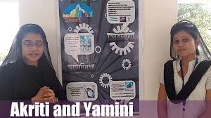 akriti and yamini idea hunt competition poster presentation