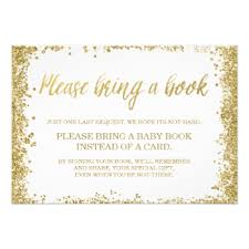 bring a book instead of a card baby shower book baby shower invitations announcements zazzle