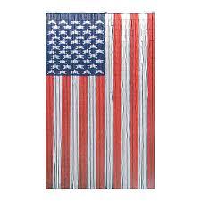 Single Flag Shop Bamboo 54 American Flag 80 In Bamboo Semi Sheer Single