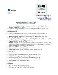 Best Network Administrator Resume by Download Storage Administration Sample Resume