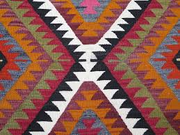 Bright Colored Rugs Handwoven Turkish Kilim Rug In Bright Colors Red Orange Black