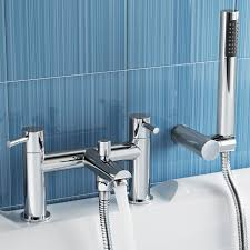 modern bath filler mixer tap with hand held bathroom shower head bathroom mirrors