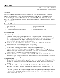 Chemistry Skills Resume Resume Willing To Travel Resume For Your Job Application