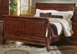 Solid Wood Sleigh Bed Solid Wood Sleigh Bed King Size Vine Dine King Bed