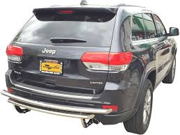 11 17 jeep grand cherokee rear bumper protector guard double layer
