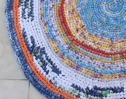 Crochet A Rag Rug Crocheted Rag Rug From Sheets Completed Creative Jewish Mom