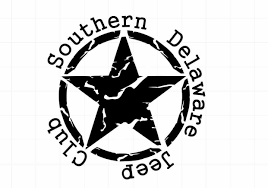 jeep logo black southern delaware jeep club chaos off road