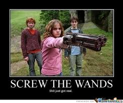 Hermione Memes - harry potter memes hermione introduces muggle weapons to the