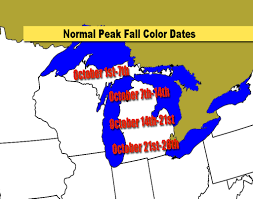 Michigan Area Code Map Michigan U0027s Average Fall Color Dates And How Is This Year Looking