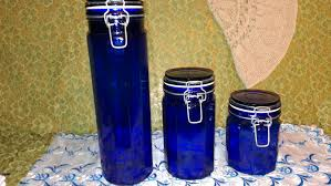 28 cobalt blue kitchen canisters canister set of four