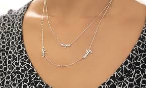 personalized name necklace sterling silver personalized name necklace monogram online groupon