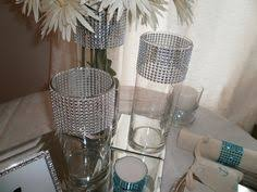 Bling Wrap For Vases Set Of 15 Silver Rhinestone Wrap Glass Cylinder Vases By Modmv