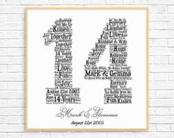 25 year anniversary gift ideas personalized 20th anniversary gift word printable