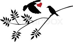 vector illustration of flying bird silhouette with a for birds