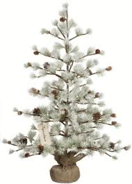 pair 36 artificial miniature snow covered pine cone