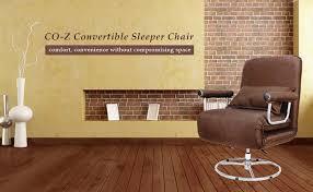amazon com co z 5 position folding sleeper chair convertible sofa