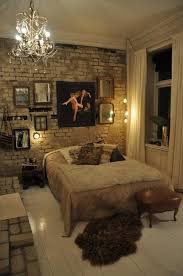 exposed brick wall lighting shabby chic bedroom also white brick walls with rustic design style