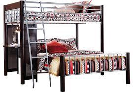 rooms to go twin beds dorm room merlot twin full loft bed bunk loft beds dark wood
