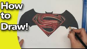 how to draw the batman vs superman logo step by step youtube