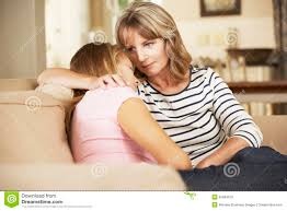 where to buy free hug sofa mother comforting teenage daughter sitting on sofa at home stock