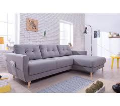 canape gris d angle canapé d angle droit scandinave tissu gris stockholm canapés but