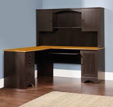 office design computer desk hutch rustic wood distressed country