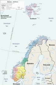 Scandinavia Blank Map by Atlas Of Norway Wikimedia Commons